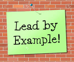 lead by example indicating directing leader and leadership stock lead by example indicating directing leader and leadership stock photo 31943573