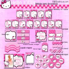 hello kitty party printable collection mimi s dollhouse hello kitty display file pink