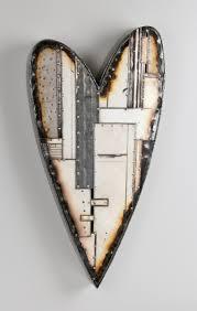 iron wall cross love: classic heart by anthony hansen metal wall sculpture