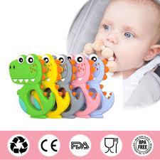Cartoon Baby Teether BPA <b>Cute Animal Dinosaur Baby</b> Teether ...