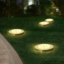 <b>Solar</b> Rechargeable <b>Outdoor</b> Garden Landscape lighting <b>8 LED</b> ...