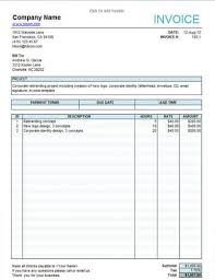 service invoice templates in word and excel service invoice template for lancers