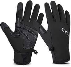 Men 2PC <b>Winter Warm</b> Gloves Black <b>Touch</b> Screen Windproof ...