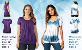 DJT Women's Scoop Neck <b>Pleated</b> Front Blouse Tunic Top at ...