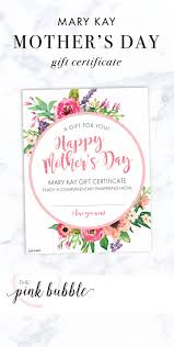 images about mary kay gift certificates gift mary kay mother s day gift certificate it only at thepinkbubble co