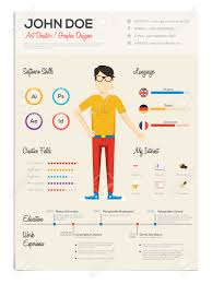 flat resume infographics resume cv set vector royalty resume cv set vector stock vector 43043089