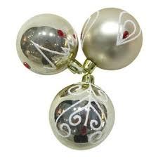 <b>Набор шаров Новогодняя сказка</b> 6 см, 3 штуки, золотой — купить ...