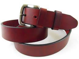 curved burgundy red leather
