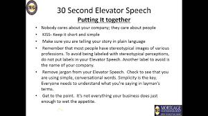 delivering a 30 second elevator speech delivering a 30 second elevator speech