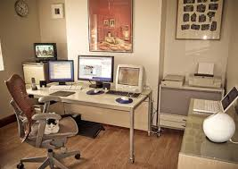 cool and charming home office design idea with wooden flooring charming cool office design