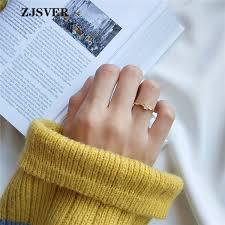 2019 <b>ZJSVER Korean Jewelry 925</b> Sterling Silver Ring Golden ...