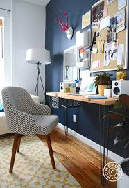 style girlfriends stylish home office navy blue wallnavy blue office walls