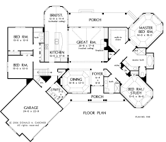 PLAN OF THE WEEK  Popular Home Designs   HousePlansBlog    First Floor Plan of The Giverny Court   House Plan