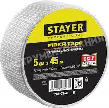 <b>Серпянка самоклеящаяся FIBER</b>-<b>Tape</b> 5 см х 45 м <b>STAYER</b> ...