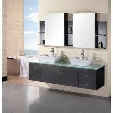 element contemporary bathroom vanity set: design element portland double  inch espresso modern wall mount bathroom vanity set