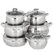 <b>Набор посуды</b> из нержавеющей стали Daniks SD-12 (кастрюля ...