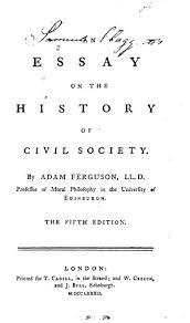 an essay on the history of civil society   online library of liberty title page  toc
