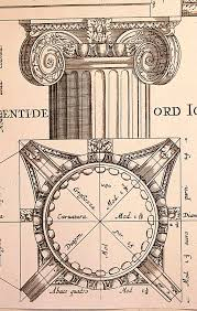 ionic order  architectural prints and classical architecture on     th century architectural print   example of greek classical  ionic order