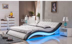 buy bedroom furniture king size large c led light leather soft bed large king size comfortable bedroom furni