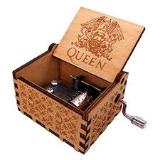 YouTang Antique Carved Wooden Hand Crank <b>Queen Music Box</b> ...