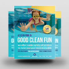 swimming pool cleaning service flyer template by owpictures swimming pool cleaning service flyer template