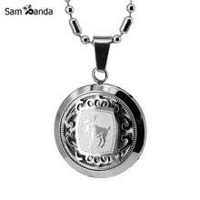 boako gold medal capital pendant necklaces a z initial letter necklace for women men jewelry gift stainless steel chain