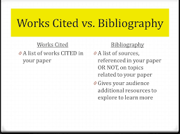 creating the works cited page  an alphabetical list of the  works cited vs bibliography works cited  a list of works cited in your paper