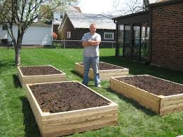 Small Picture BP Builds Four Raised Garden Beds Raising Garden boxes and Gardens