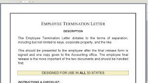 doc 10241325 employee termination letter human resources letters doc529684 letter of termination of employment template