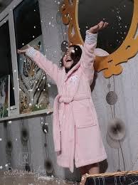 <b>Халат детский</b> с капюшоном <b>Karna Teeny</b> розовый 4-5 лет ...