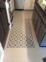 Painting Linoleum Kitchen Floor Diy Stenciled Floors A Full Tutorial