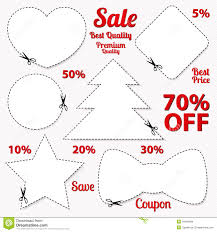 set coupon labels blank template scissors stock photos coupon tag cut off template scissors patt stock images