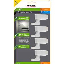 Arlec <b>LED Cupboard Hinge</b> Light - 4 Pack - Bunnings Australia