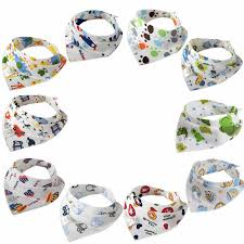 Cotton <b>Baby Bibs Cartoon Print</b> Baby Accessories Double Layers ...