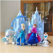 <b>Disney Frozen</b> New Toys <b>6pcs</b>/Lot 6 16cm PVC Anna Elsa Princess ...