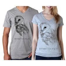 Barn <b>Owl</b> Print V neck <b>T shirt</b> - The Barn <b>Owl</b> Trust