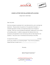 application letter of volunteer