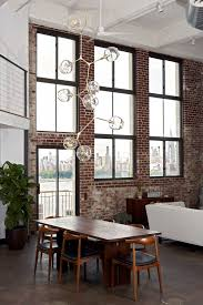 high ceiling lighting fixtures. Chandelier By Lindsey Adelman Studio Love The Brick And Windows Also Dining Set High Ceiling Lighting Fixtures O