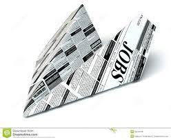 job seeking concept newspaper as paper airplane stock job seeking concept newspaper as paper airplane