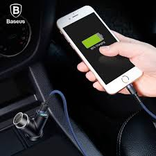 <b>BASEUS Y Type Dual USB</b> Smart Extended USB Car Charger ...