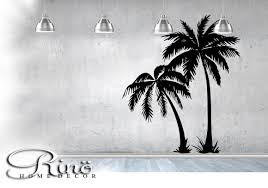 palm tree wall stickers: palm tree decal wall art palmtree vinyl wall stickers no background large size coconut tree beach