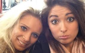 Serena Burton (left) and Grace Cochran have received death threats on Twitter after giving evidence in the trial of N-Dubz rapper Dappy. Photo: TWITTER - girls-twitter_2458614b