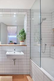dwell bathroom ideas quoti put everything that ive always loved into this housequot says tyler and that includes white tiles edged with gray grout in the bathroom a design move
