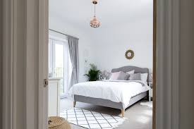 grey and white bedroom with blush and warm metallic accents bedroom grey white