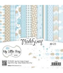 Scrapbooking Papier <b>My</b> Little Boy, <b>15x15cm</b> - Moda Scrap