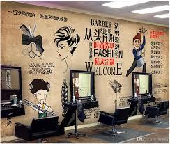 professional custom wallpaper hair salon
