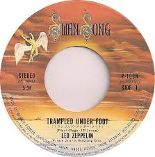 Image result for trampled under foot led zeppelin 45