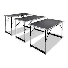 Shop vidaXL <b>Pasting Table 3</b> pcs Foldable Height Adjustable ...