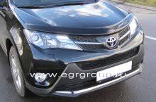 <b>Дефлектор капота</b> Toyota RAV 4 2013-2019 <b>темный</b>, <b>EGR</b> ...