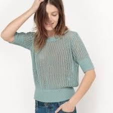 <b>Пуловер</b> из ажурного трикотажа с <b>круглым</b> вырезом <b>La Redoute</b> ...